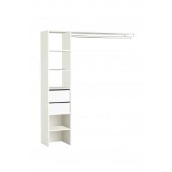 Dressing pour placard contemporain 160 cm coloris blanc Irene