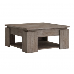 Table basse contemporaine chêne foncé Louisiane