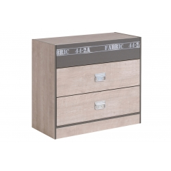 Commode enfant contemporaine gris clair/gris ombre Soft