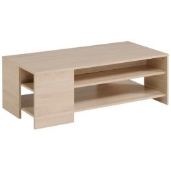 Table basse contemporaine rectangulaire chêne clair William