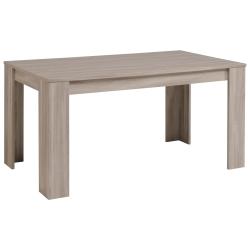 Table de salle à manger contemporaine chêne marbré Jeremy