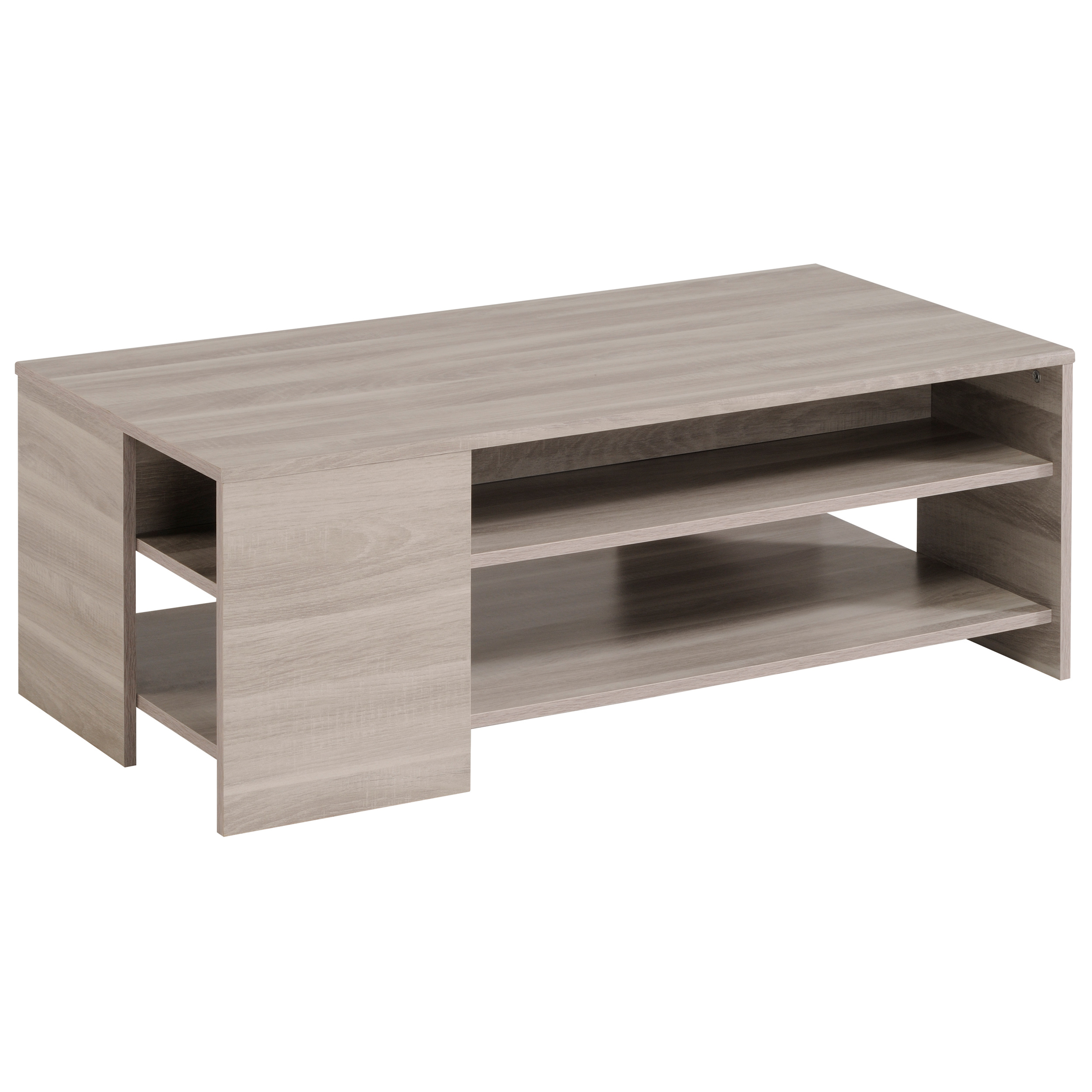 Table Basse Contemporaine Rectangulaire Chene Marbre Jeremy