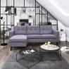 Canapé d'angle réversible contemporain en tissu gris Mambo