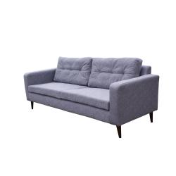 Canapé fixe 3 places contemporain en tissu gris Mambo