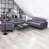 Canapé fixe 2 places contemporain en tissu gris Mambo