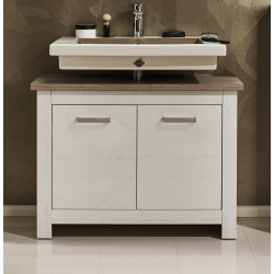 Meuble sous lavabo contemporain chêne blanchi Glamour