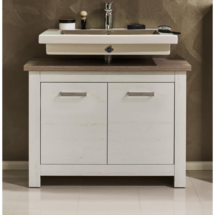 Meuble sous lavabo contemporain chêne blanchi Glamour | Matelpro