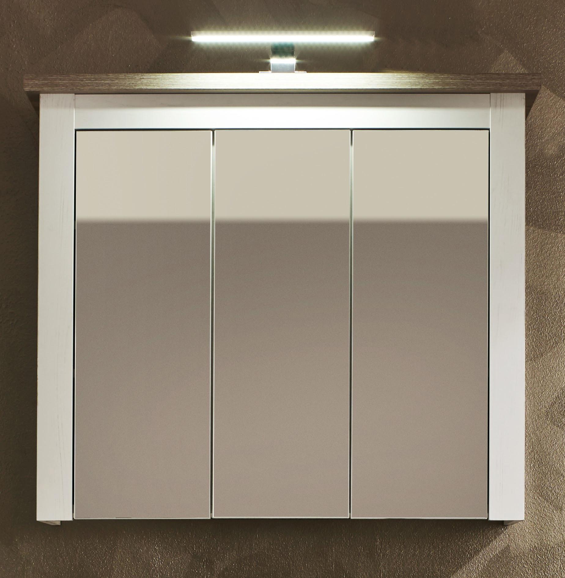 Armoire de toilette contemporaine chêne blanchi Glamour