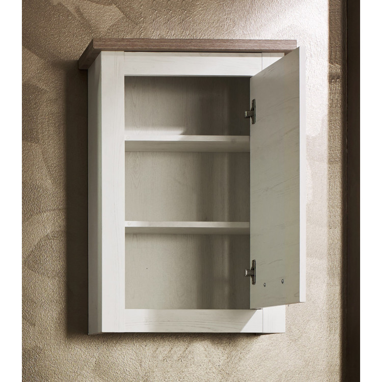 meuble haut de salle de bain contemporain ch ne blanchi glamour matelpro. Black Bedroom Furniture Sets. Home Design Ideas