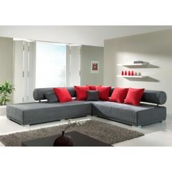 Canapé d'angle fixe tissu ALPHA