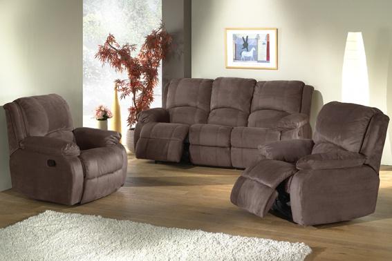Canapé de relaxation 3 places 2 relax microfibre AMELIA