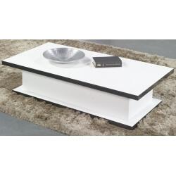 Table basse design coloris blanc/noir Anna