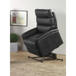 Fauteuil de relaxation cuir électrique releveur avec repose-pieds intégré DETROIT