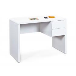 Bureau design en bois blanc brillant Acapulco