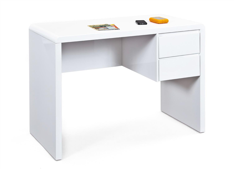 Bureau design en bois blanc brillant acapulco matelpro
