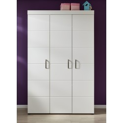 Armoire enfant contemporaine 131 cm blanc mat Julia