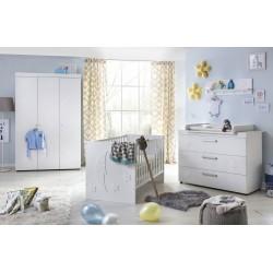 Chambre bébé design blanc mat Coccinelle
