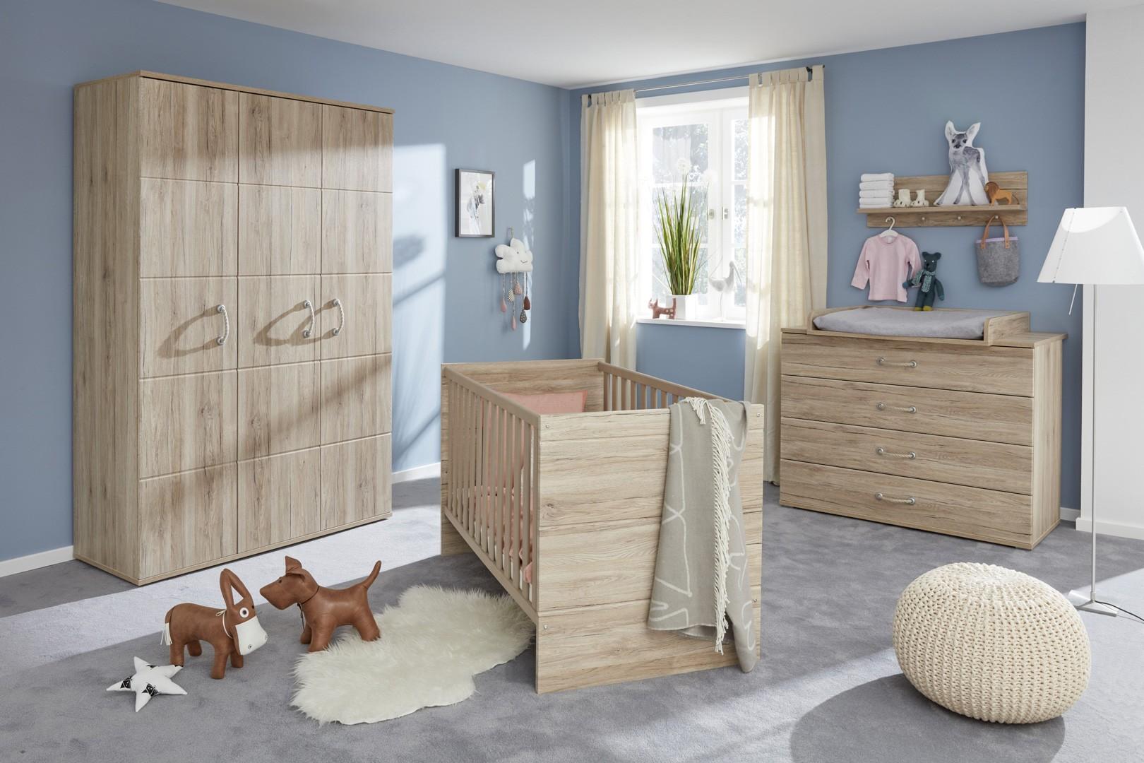 Chambre bébé contemporaine coloris chêne Gisela