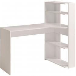 Bureau contemporain avec armoire coloris blanc Silvere