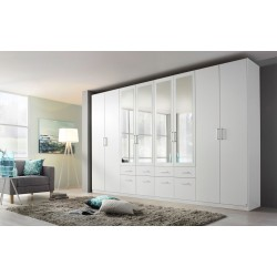 Armoire contemporaine 360 cm blanche Alban