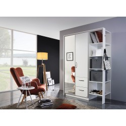 Armoire contemporaine coloris blanc Eleonore