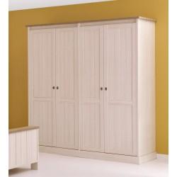 Armoire contemporaine 212 cm beige cristal/mélèze Syria