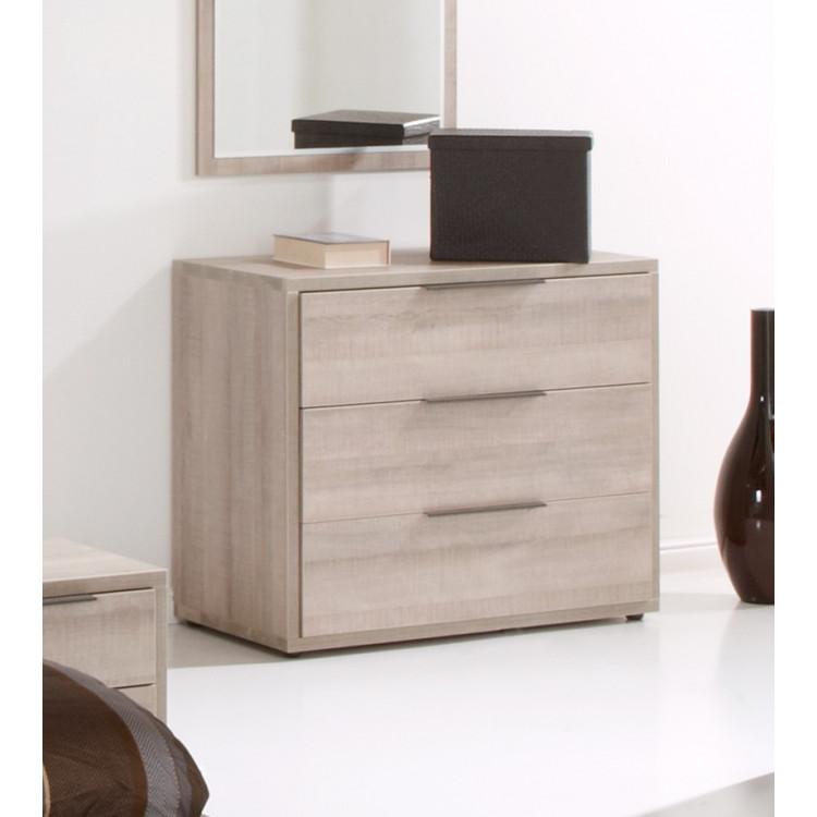commode contemporaine 3 tiroirs ch ne clair jenaro matelpro. Black Bedroom Furniture Sets. Home Design Ideas