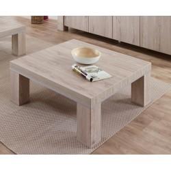 Table basse carrée contemporaine chêne gris clair Arizona