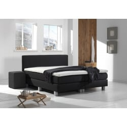 Ensemble literie boxspring fixe GRAPHITE