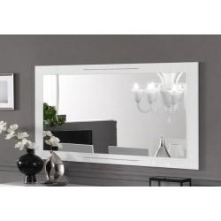 Miroir de salle à manger design 140 cm laqué blanc brillant Britany