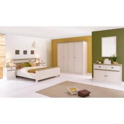 Chambre adulte contemporaine beige cristal/mélèze Syria