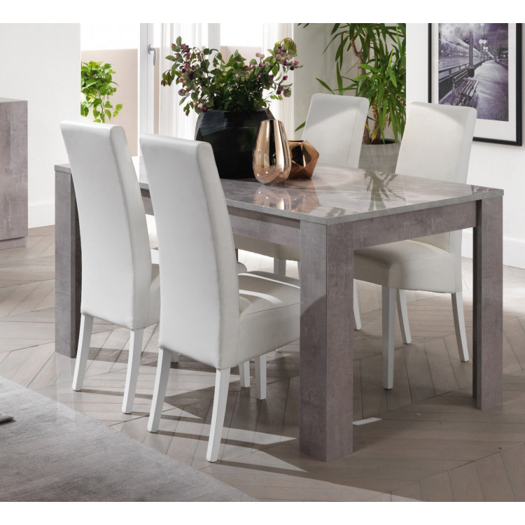 Table A Manger Marbre.Table De Salle A Manger Design Laquee Marbre Clarissa