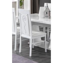 Chaise de salle à manger design blanche (lot de 2) Britany