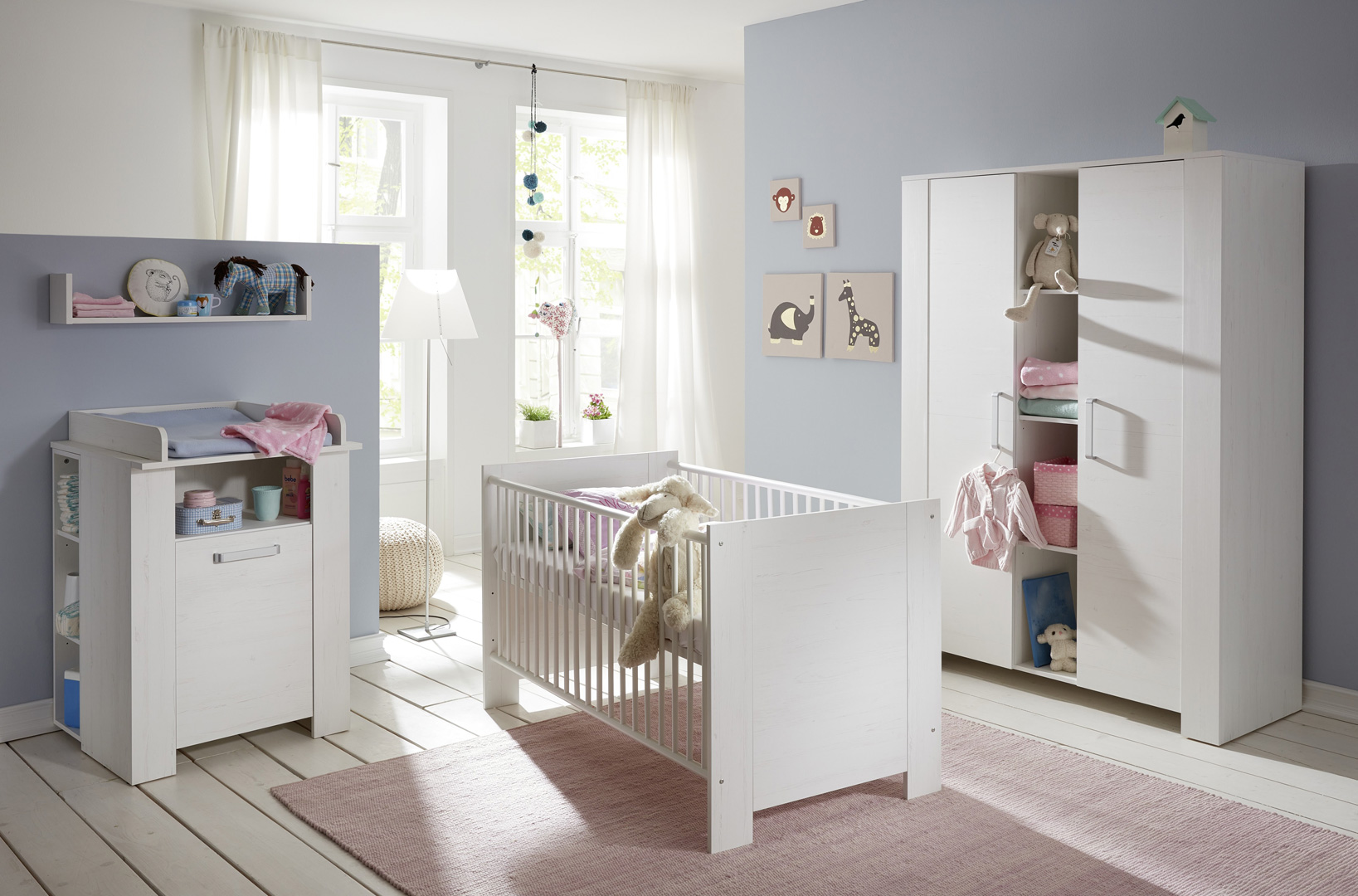 Chambre bébé contemporaine en pin blanc Marinette