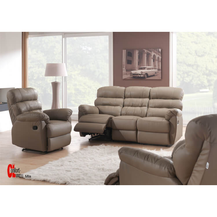 Salon de relaxation manuel en cuir 3-1-1 MINA