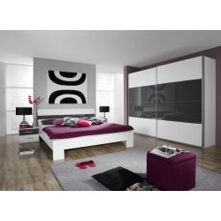 Chambre adulte design coloris blanc/noir Aubade