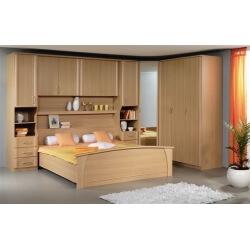 Pont de lit, lit adulte, armoire 3 portes et armoire d'angle 1 porte MATHIS