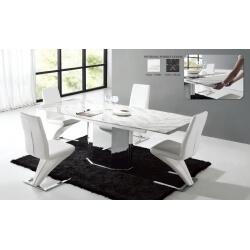 Table de salle à manger en marbre avec allonge SISKA