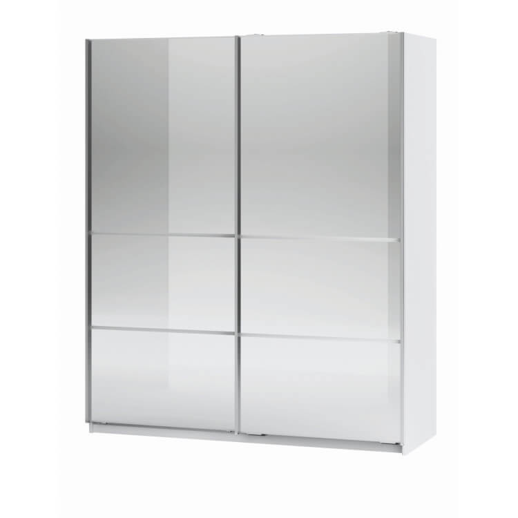 Armoire adulte contemporaine coloris blanc Linus