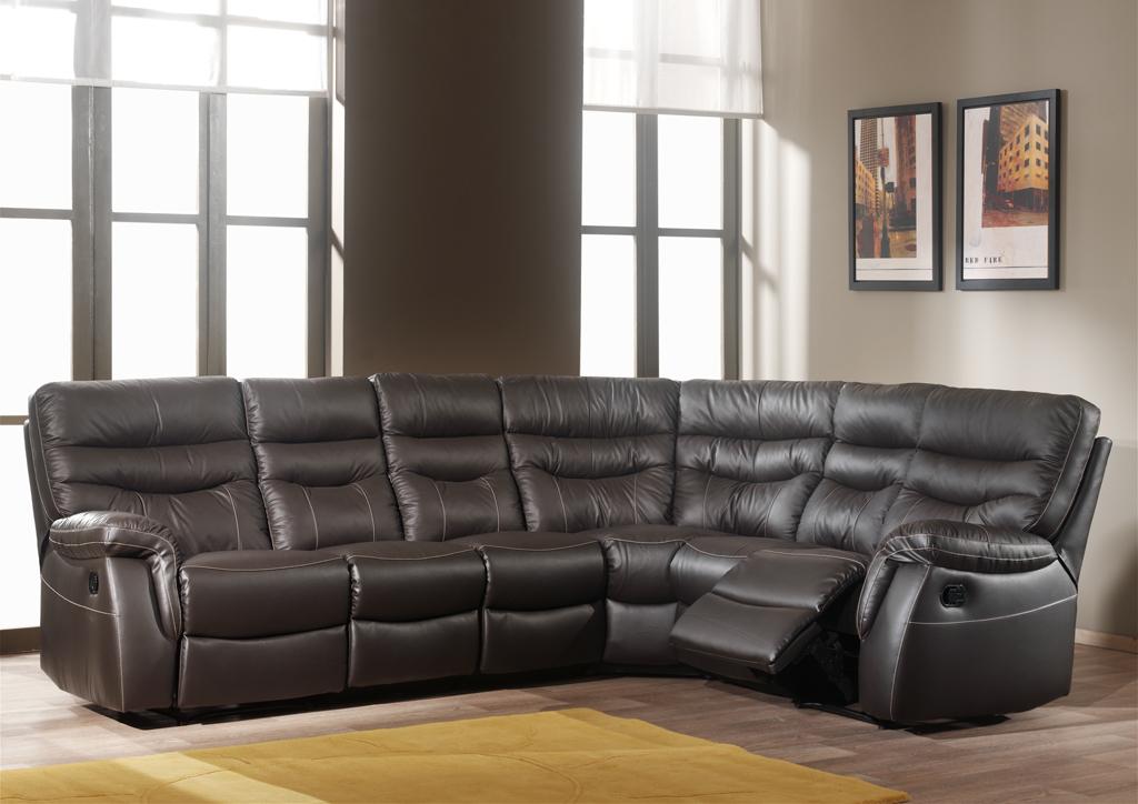 Canapé d'angle en cuir LEONARD