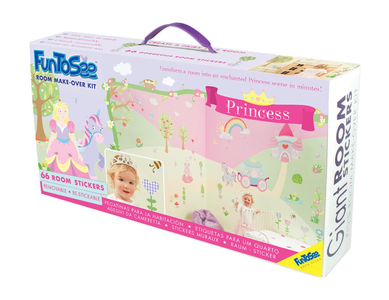 Coffret stickers 66 pièces PRINCESS