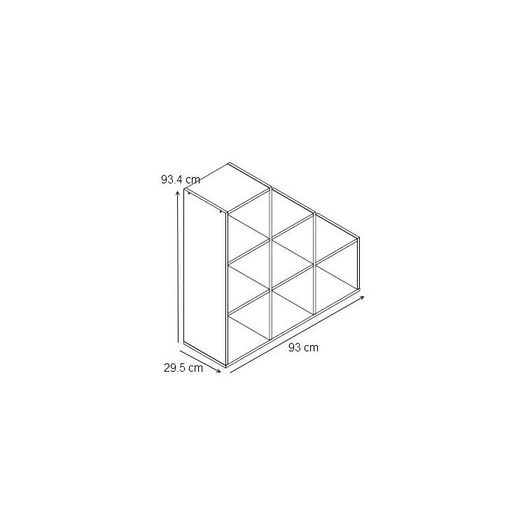 etag re escalier contemporaine 6 casiers coloris noir module matelpro. Black Bedroom Furniture Sets. Home Design Ideas