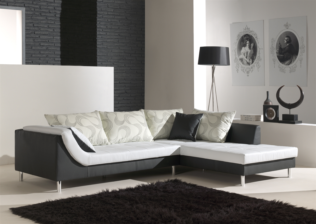 Canapé d'angle fixe design en tissu Mahe