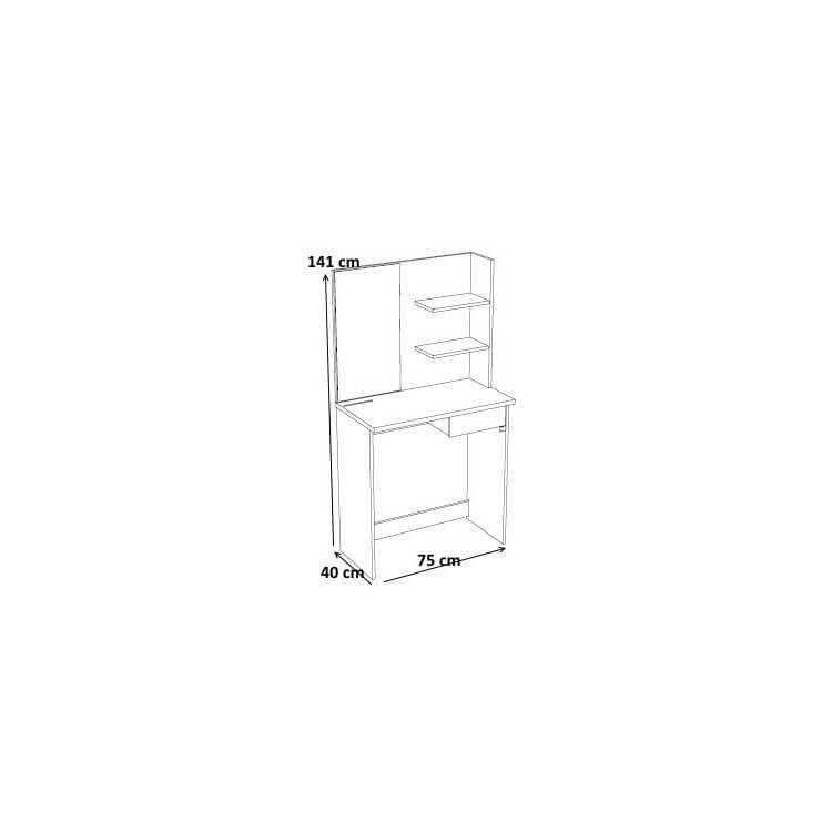 coiffeuse contemporaine blanche et noire cerval matelpro. Black Bedroom Furniture Sets. Home Design Ideas
