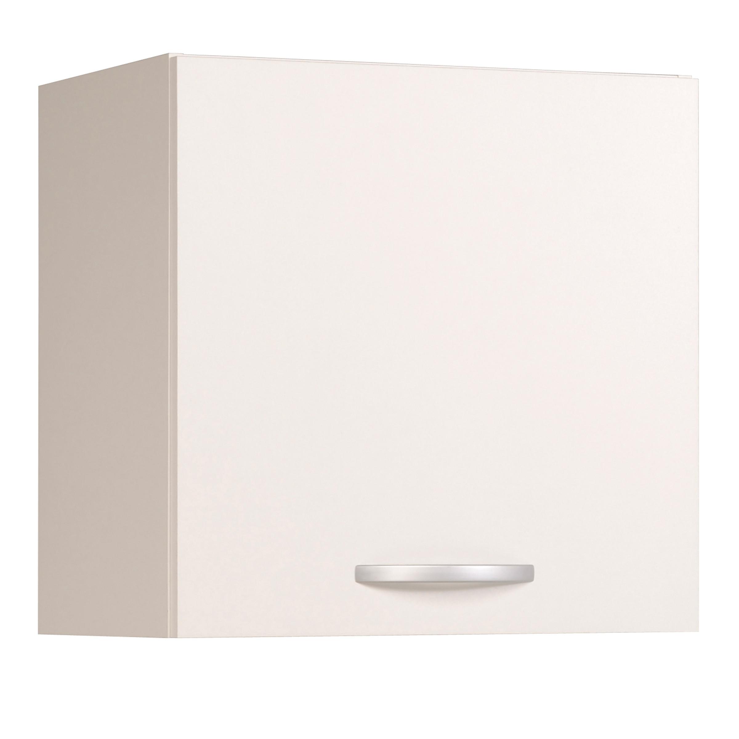 Meuble haut de cuisine contemporain 1 porte 60 cm blanc brillant Bianco
