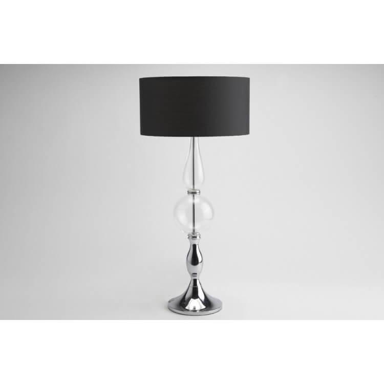 Lampe à poser verre & métal BLACKY