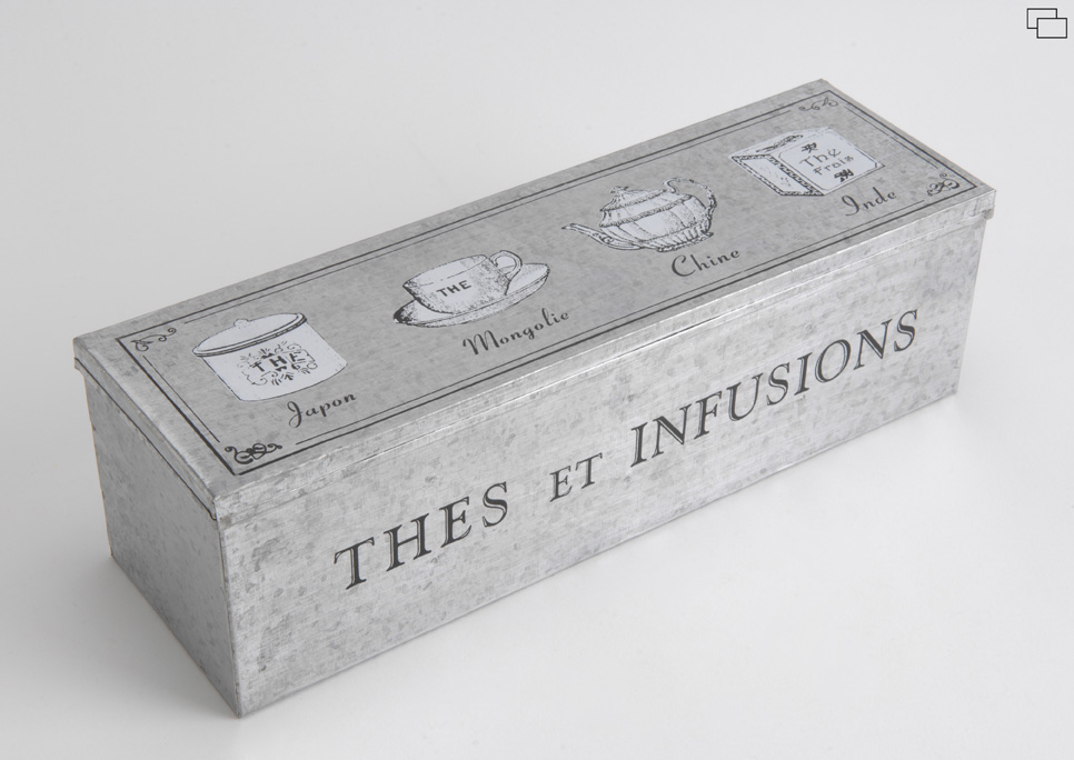 Boîte à thé en métal THE & INFUSIONS