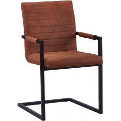 Chaise de salle à manger design en PU brun (lot de 2) Outremer