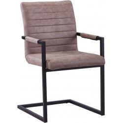 Chaise de salle à manger design en PU gris antique (lot de 2) Outremer