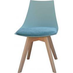 Chaise contemporaine en bois et PU vert (lot de 2) Marine